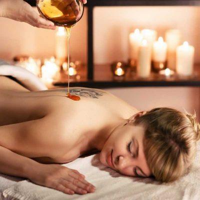 Aceites y velas para masajes